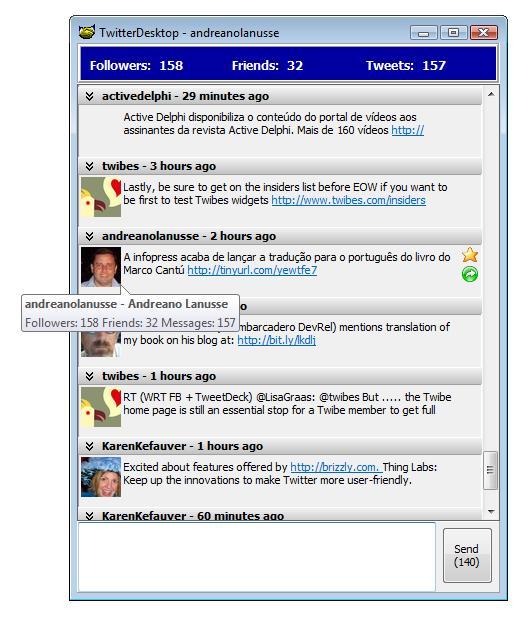 Delphi Twitter Desktop Client