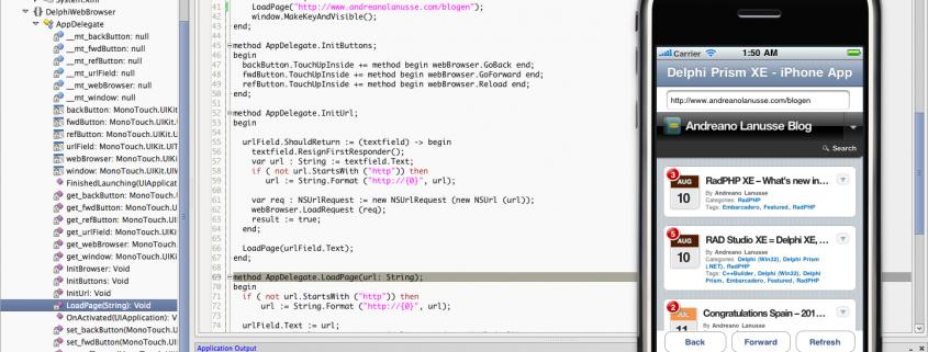 MonoDevelop IDE integrado ao Delphi Prism XE
