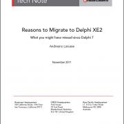 Razões para migrar para o Delphi XE2